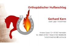 Orthopädischer Hufbeschlag Gerhard Kern